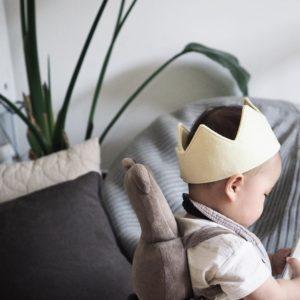 1歳の誕生日 – 手作りフェルト王冠