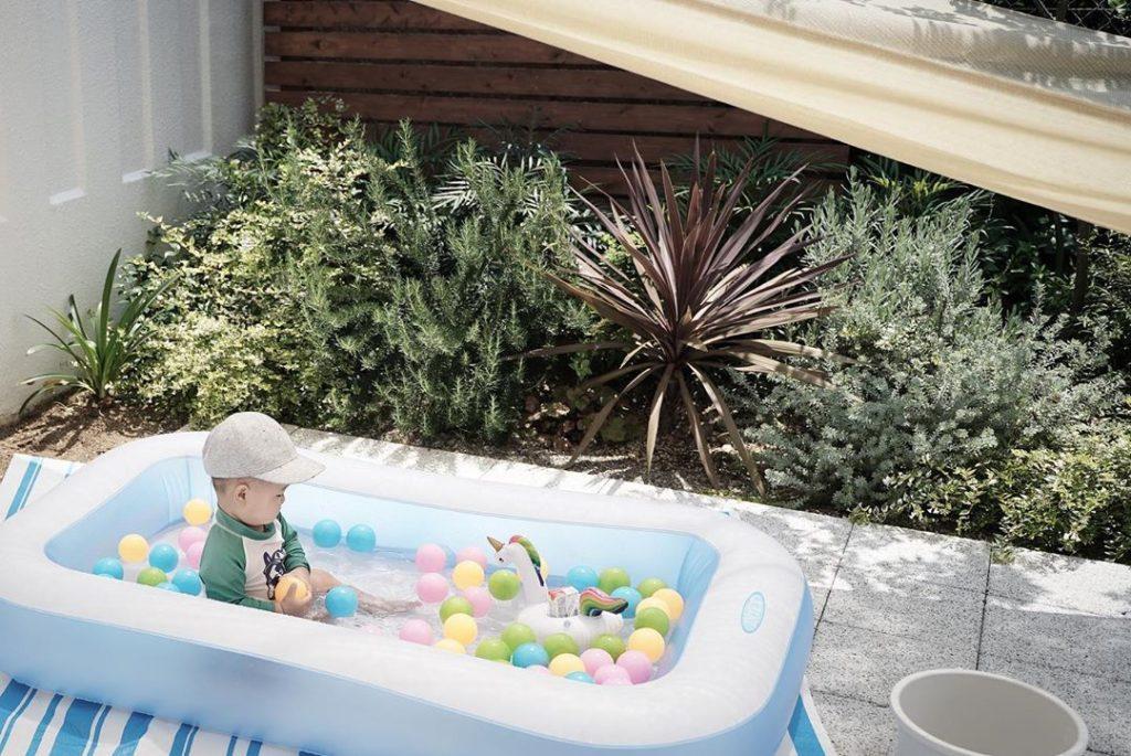 専用庭でおうちプールはじめました