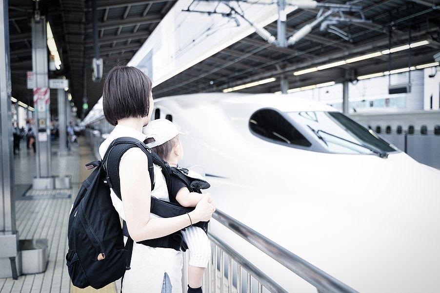 1歳児子連れ大阪旅行 - 新幹線