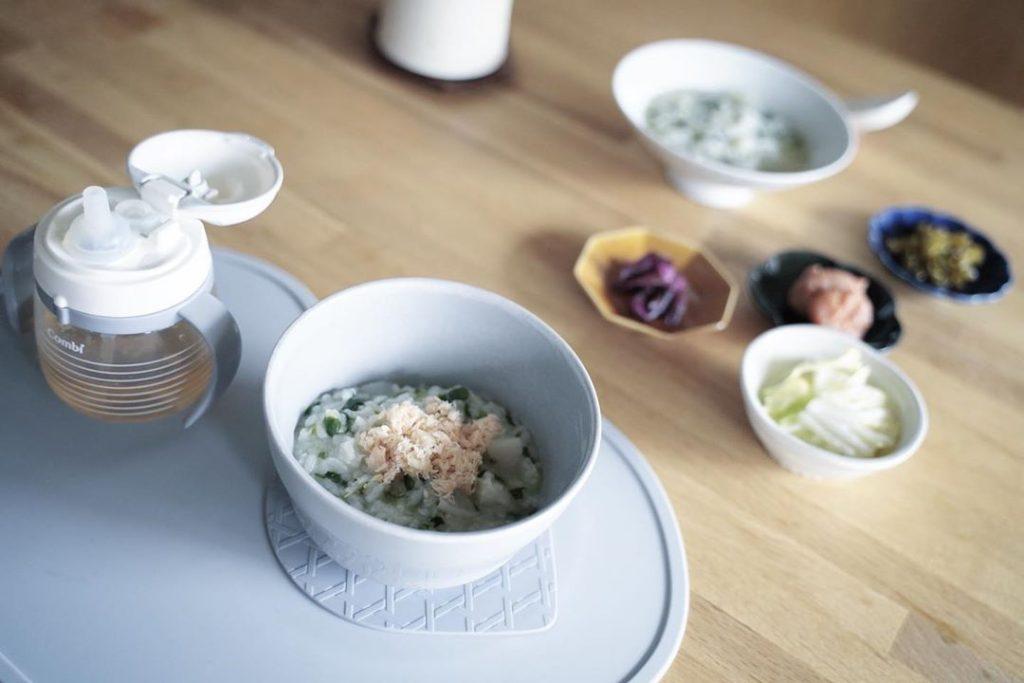1月7日、1歳児と食べる七草粥