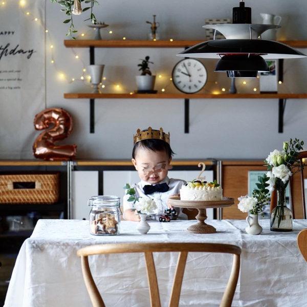 息子2歳の誕生日パーティー – 飾り付けやパーティーごはん、衣装などまとめ