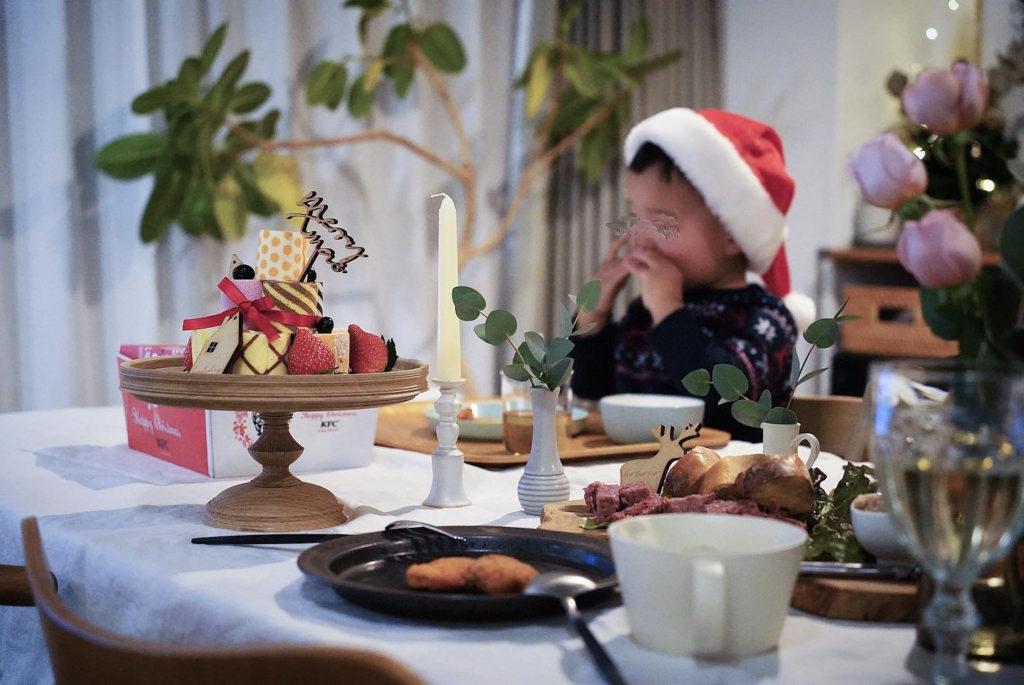 irinaのロールケーキタワー - クリスマス2020 - 2歳と過ごすおうちクリスマス